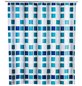 WENKO Duschvorhang »Mosaik«, BxH: 180 x 200 cm, Mosaik, blau-Thumbnail