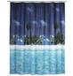 WENKO Duschvorhang »Palmenstrand«, BxH: 180 x 200 cm, Strand, mehrfarbig-Thumbnail