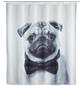 WENKO Duschvorhang »Pugy«, BxH: 180 x 200 cm, Hund, mehrfarbig-Thumbnail