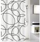 KLEINE WOLKE Duschvorhang »Rings«, BxH: 180 x 200 cm, Kreise, weiß/schwarz-Thumbnail