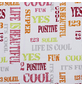 KLEINE WOLKE Duschvorhang »Script«, BxH: 180 x 200 cm, Schriftzug, mehrfarbig-Thumbnail