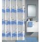 KLEINE WOLKE Duschvorhang »Seaside«, BxH: 180 x 200 cm, Wellen, krokusblau/weiß-Thumbnail