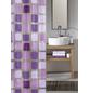 KLEINE WOLKE Duschvorhang »Sonny«, BxH: 180 x 200 cm, Quadrate, violett-Thumbnail