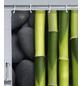 WENKO Duschvorhang »Spa«, BxH: 180 x 200 cm, Steine/Bambus, rosa/grün/grau-Thumbnail