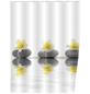 WENKO Duschvorhang »Stones with Flower«, BxH: 180 x 200 cm, Steine/Blumen, mehrfarbig-Thumbnail