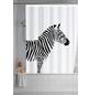 WENKO Duschvorhang »Wild«, BxH: 180 x 200 cm, Zebra, weiß-Thumbnail