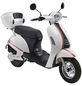 LuXXon E-Scooter »E3000«, max. 25 km/h, Reichweite: 65 km, weiß-Thumbnail
