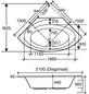 OTTOFOND Eckbadewanne »Canary«, BxHxL: 150 x 44 x 150 cm, eckig-Thumbnail