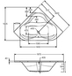 OTTOFOND Eckbadewanne »Lucia«, L x B: 140 cm x 140 cm-Thumbnail