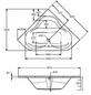 OTTOFOND Eckwanne »Lucia«, BxHxL: 140 x 40,5 x 140 cm, eckig-Thumbnail