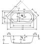 OTTOFOND Eckwanne »Ravenna«, BxHxL: 80 x 44,5 x 190 cm, sechseckig-Thumbnail