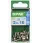 SPAX Edelstahlschraube, T15, Edelstahl, 25 Stück, 3.5 x 16 mm-Thumbnail