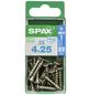 SPAX Edelstahlschraube, T20, Edelstahl, 25 Stück, 4 x 25 mm-Thumbnail