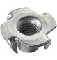 CONNEX Einschlagmuttern, M4 x 6 mm, Silber, Stahl-Thumbnail