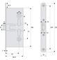 ABUS Einsteckschloss, aus metall kunststoff, 97 mm Breite, silberfarben-Thumbnail