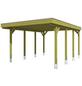 Einzelcarport, B x T x H: 314 x 555 x 241 cm, grün-Thumbnail