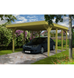 Einzelcarport, BxTxH: 314  x 555  x 241  cm, grün-Thumbnail