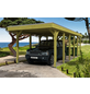 Einzelcarport, BxTxH: 314  x 860  x 241  cm, grün-Thumbnail