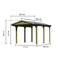 KARIBU Einzelcarport »Classic 1«, Außenmaß BxT: 273 x 394,5 cm, natur-Thumbnail