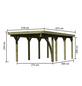 KARIBU Einzelcarport »Classic 2 Variante B inkl. einem Einfahrtsbogen«, Außenmaß BxT: 273 x 586 cm, natur-Thumbnail
