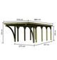KARIBU Einzelcarport »Classic 3 Variante C inkl. zwei Einfahrtsbögen«, Außenmaß BxT: 273 x 657,5 cm, natur-Thumbnail