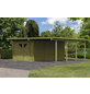 KARIBU Einzelcarport »Eco«, Außenmaß BxT: 527 x 576 cm, natur-Thumbnail