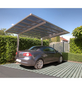 XIMAX Einzelcarport »Linea«, Außenmaß BxT: 272,6 x 495,4 cm, edelstahlfarben-Thumbnail
