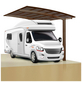 XIMAX Einzelcarport »Portoforte Caravan«, B x T x H: 270,4 x 495,4 x 348 cm, braun-Thumbnail