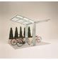 XIMAX Einzelcarport »Portoforte Mini«, Außenmaß BxT: 404 x 253,8 cm, edelstahlfarben-Thumbnail