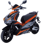 GT UNION Elektroroller »eStriker«, 25 km/h (max.), Reichweite 70 km (eco), orange - schwarz-Thumbnail