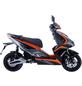 GT UNION Elektroroller »eStriker«, max. 45 km/h, Reichweite: 70 km, schwarz/orange-Thumbnail