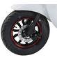 GREENSTREET Elektroroller »SEED«, 45 km/h (max.), Reichweite 80 km (eco), weiß - rot-Thumbnail