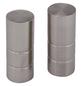 GARDINIA Endknopf, Ally, Zylinder, 19 mm, 2 Stück, Silber-Thumbnail