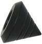 GARDINIA Endknopf, Memphis, Kegel, 16 mm, 2 Stück, Schwarz-Thumbnail