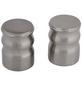 GARDINIA Endknopf, Windsor, Kappe, 25 mm, 2 Stück, Silber-Thumbnail