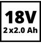 EINHELL Ersatzakku »PXC-Twinpack«, 18V2Ah-Thumbnail