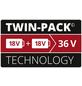 EINHELL Ersatzakku, PXC-Twinpack, 4 Ah, 18 V, Lithium-Ionen, Rot   Schwarz-Thumbnail