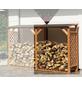 PROMADINO Erweiterungselement Kaminholzregal, BxHxL: 118,5 x 148 x 68 cm, honigbraun-Thumbnail