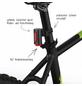 FISCHER FAHRRAEDER Fahrradbeleuchtungsset, TWIN, Akku, LED, mit zusätzlicher Bodenleuchte, bis 30 Lux-Thumbnail