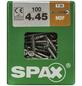 SPAX Faserplattenschraube, T-STAR plus, T15, Stahl, 100 Stück, 4 x 45 mm-Thumbnail