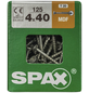 SPAX Faserplattenschraube, T15, Stahl, 125 Stück, 4 x 40 mm-Thumbnail