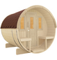 WOLFF FINNHAUS Fasssauna »Basic«, Fichtenholz, beige, 4 Personen, 5,1 m2-Thumbnail