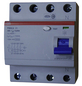 ABB Fehlerstromschutzschalter, F200, 4-polig 25/0,03 A, 25 A-Thumbnail