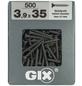 SPAX Feingewindeschraube, 3,9 mm, Stahl, 500 Stk., GIX A 3,9x35 XL-Thumbnail