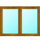 Meeth Fenster »77/3 MD«, Gesamtbreite x Gesamthöhe: 110 x 100 cm, Glassstärke: 33 mm, weiß/golden oak-Thumbnail