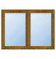 Meeth Fenster »77/3 MD«, Gesamtbreite x Gesamthöhe: 110 x 50 cm, Glassstärke: 33 mm, weiß/golden oak-Thumbnail