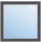 Meeth Fenster »77/3 MD«, Gesamtbreite x Gesamthöhe: 125 x 40 cm, Glassstärke: 33 mm, weiß/titan-Thumbnail