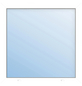 Meeth Fenster »77/3 MD«, Gesamtbreite x Gesamthöhe: 125 x 50 cm, Glassstärke: 33 mm, weiß-Thumbnail