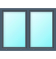 Meeth Fenster »77/3 MD«, Gesamtbreite x Gesamthöhe: 130 x 130 cm, Glassstärke: 33 mm, weiß/titan-Thumbnail