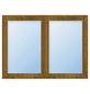 Meeth Fenster »77/3 MD«, Gesamtbreite x Gesamthöhe: 130 x 140 cm, Glassstärke: 33 mm, weiß/golden oak-Thumbnail